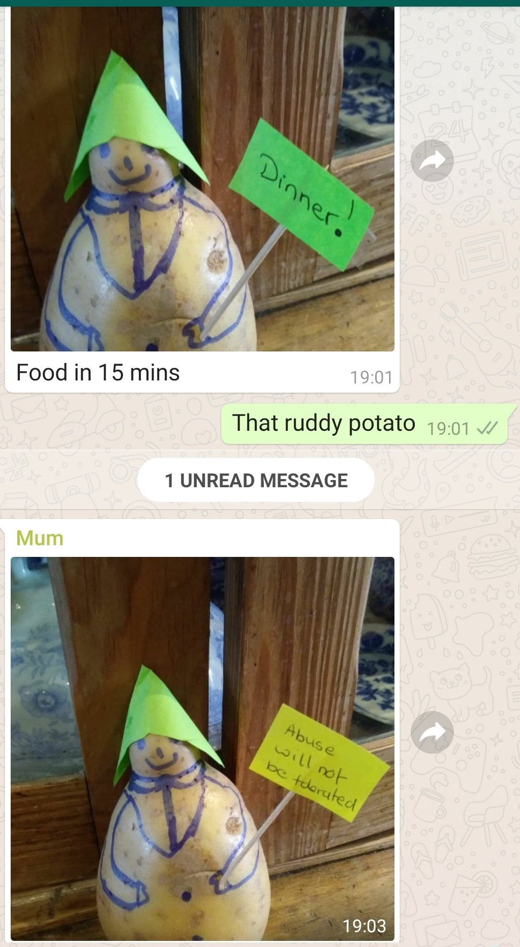 Mr Potato Abuse